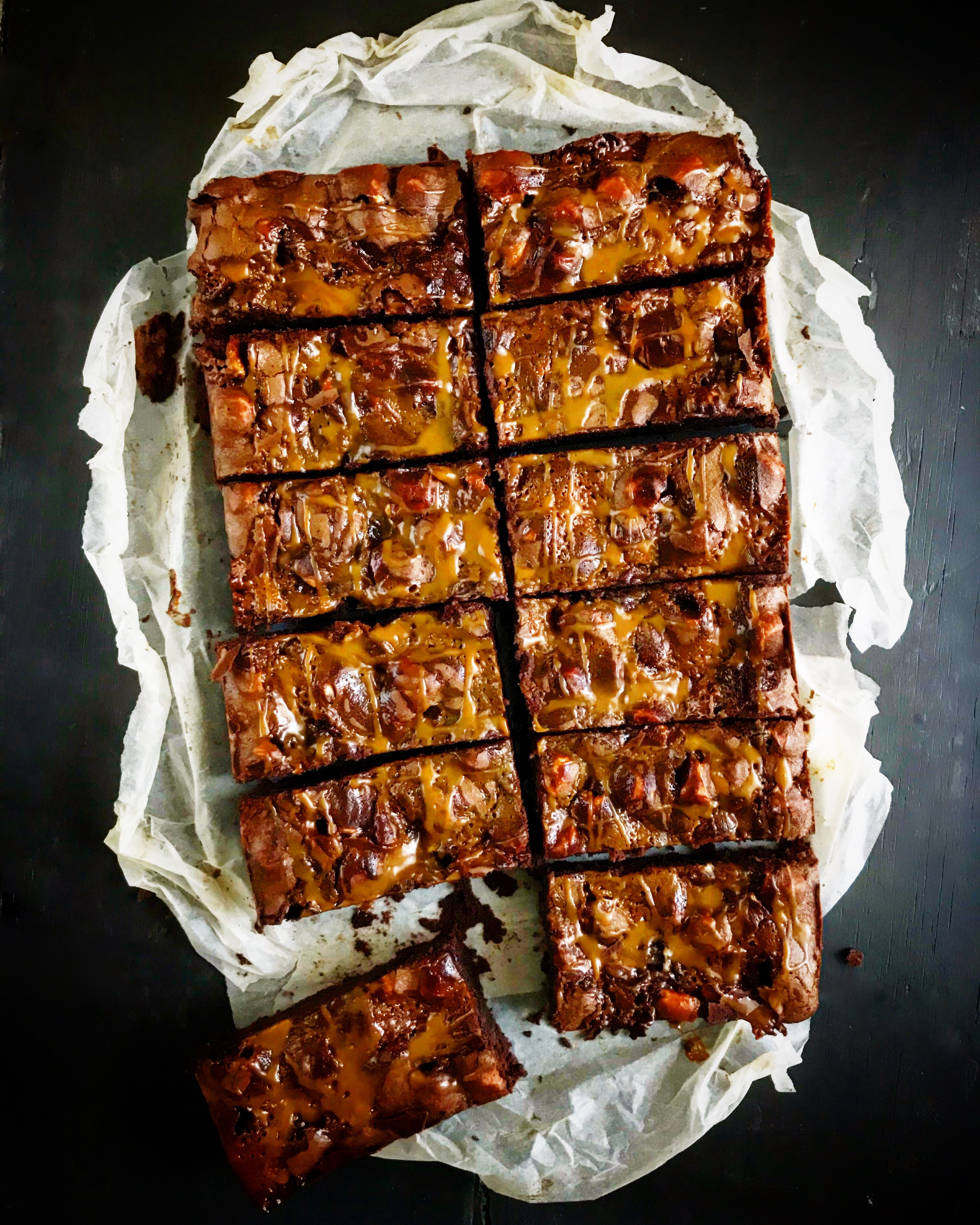 Salted Caramel and Marshmallow Brownies